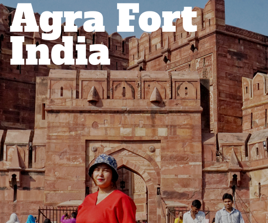 pesona benteng agra fort india